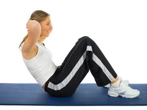 How Much to Bend the Knees Doing Sit Ups?