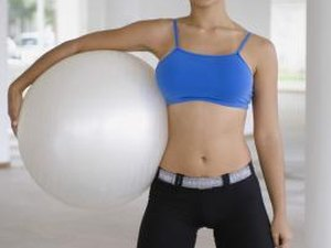 Exercise Ball Exercises to Trim Legs