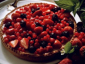 Healthy Berry Torte