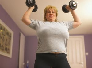 Chest Exercises for Obese Women With Dumbbells