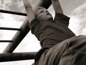 Shoulder Workouts With Monkey Bars