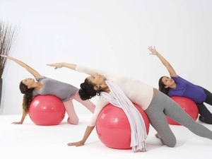 Abdominals, Hip & Thighs Exercise with a Ball