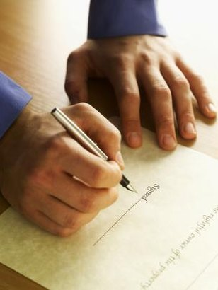 The trustee of a living trust is named in the trust deed.