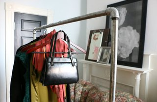 [Article Image] - DIY Industrial Chic Garment Rack