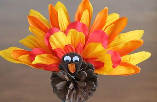 [Article Image] - How to Make a Pinecone Turkey Craft