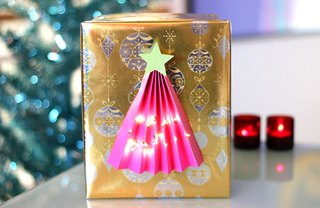 [Article Image] - Illuminated Christmas Tree Gift Wrap