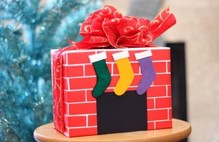 [Article Image] - Fireplace Mantel Gift Wrap