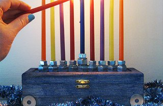 [Article Image] - How to Make a Hardware Menorah