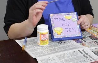 [Article Image] - Decorating Wooden Plaques With Paint & Decoupage