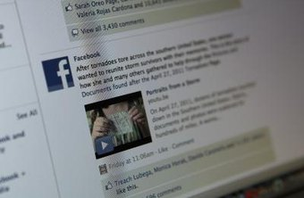 Facebook links appear at the bottom of the status update, message or comment you send.