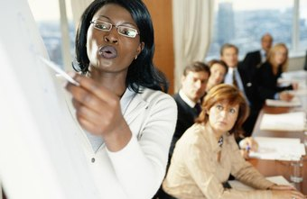 Woman leading a business presentation
