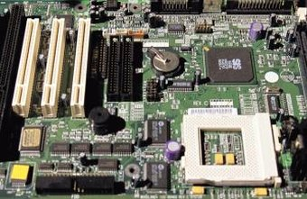 The silver disc near the center is the motherboard's CMOS battery.