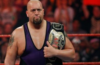 Wrestler Big Show appears in the ring during the WWE Monday Night Raw show.