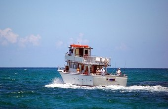 Charter boats take guests on fishing, snorkeling and sightseeing expeditions.