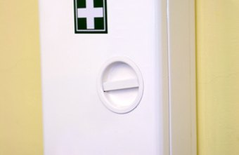 This wall-mounted first-aid kit is appropriate for industrial settings.