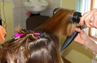 Cosmetologists often work styling hair.