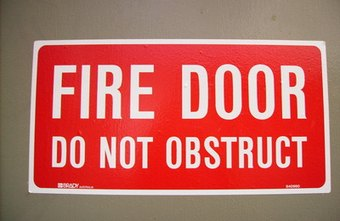 Doorway guidelines are important when escaping a fire.