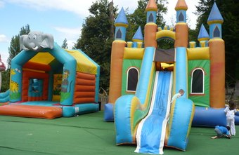 Inflatable jumping castles come in a variety of styles and sizes.