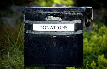 A donation box is a simple fundraising idea.