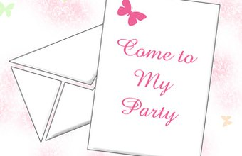 A unique invitation can entice people to come to your event.