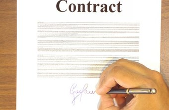 A business contract contains a number of terms and conditions.