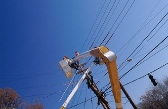 Linemen repair damaged and outdated power lines.