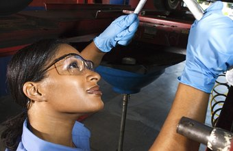 Modern auto mechanics use a variety of tools and equipment.