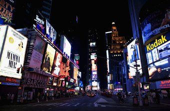 Times Square in New York could be called advertising central, with its mass of messages.
