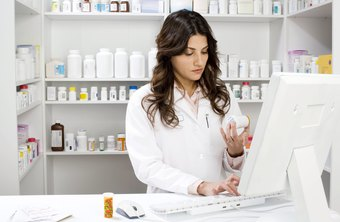 Pharmacy technicians check the client's history for allergies before filling prescriptions.