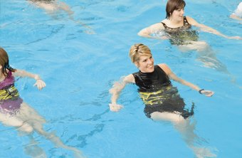 Water aerobics classes are offered for people of all ages.