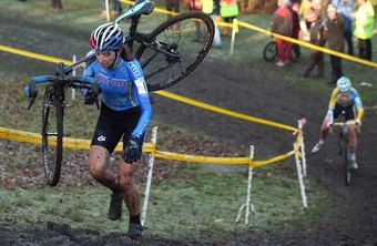 Portaging is a common practice during a cyclocross race.