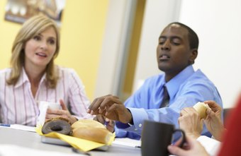 Eating doughnuts and other unhealthy snacks at work can adversely affect productivity.