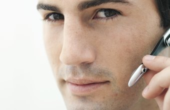 Bluetooth connects wireless headsets to mobile phones.