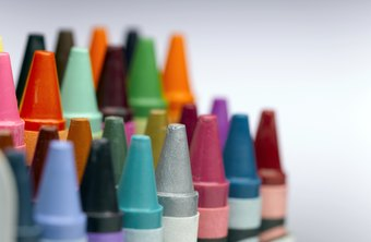 Crayons lay down a stroke pattern with distinctive edges.