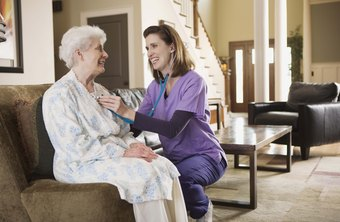A community nurse may visit patients in their homes.