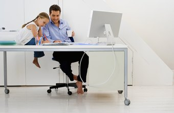 Working at home offers the chance to spend more time with family.