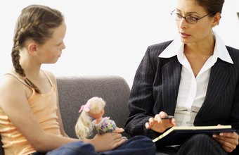 Child psychiatrists usually spend time talking with children and their parents.