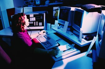 Dispatchers inform police officers of emergencies and possible crimes in progress.