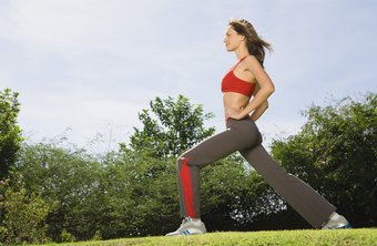 Lunges are a useful way to strengthen your lower body.