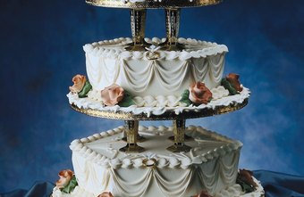 A beautifully decorated wedding cake can be the work of a baker and a food stylist.