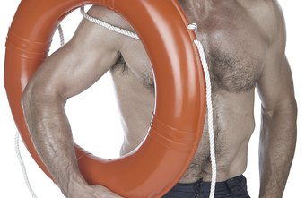 Lifeguards are trained to use rescue rings.