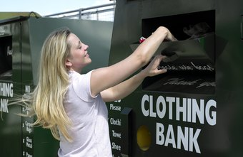 Clothes are just one of the items that charities accept as donations.