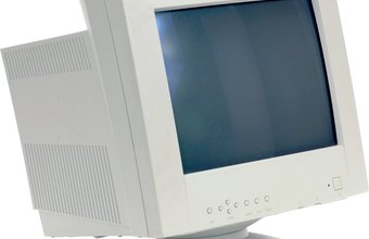 CRTs and many flat-panel monitors accept VGA connections as standard.