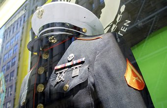 Dress uniforms are part of the benefits of being a U.S. Marine.