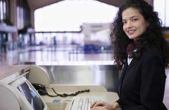 Some airline employees make flight reservations.