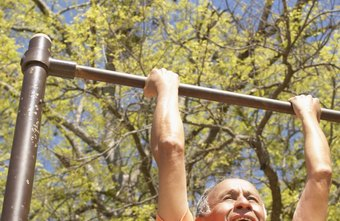 Pullups help develop upper-body muscle.