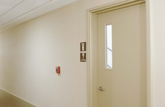 OSHA has specific requirements for the construction, location and labeling of exit doors.