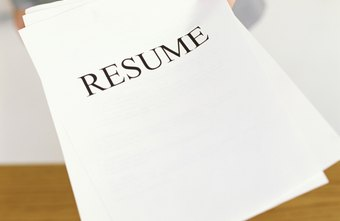 What Do You Put on a Resume if You Have No Past Employment