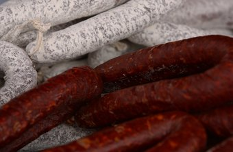 Hard sausages need time to cure before they are ready for sale.