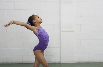 Gymnasts train for long hours several times a week.